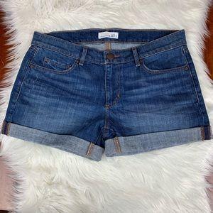 Ann Taylor LOFT NWT Jean Shorts 27/4 Roll Hem